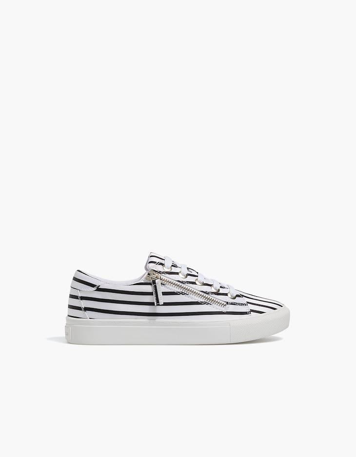Sneaker mit kombiniertem Reißverschluss