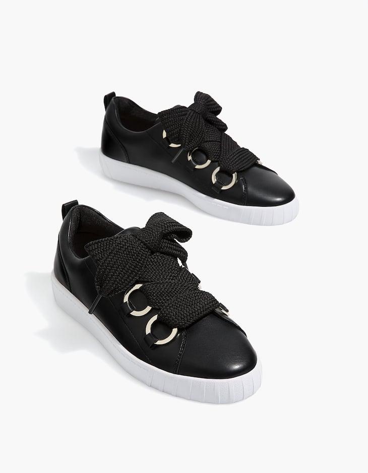 Tennis lacets noire