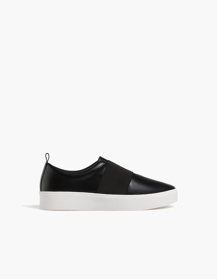 Pantofi sport negri cu elastic