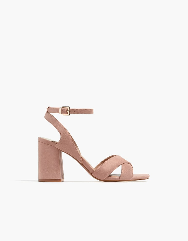 Nude high heel sandals