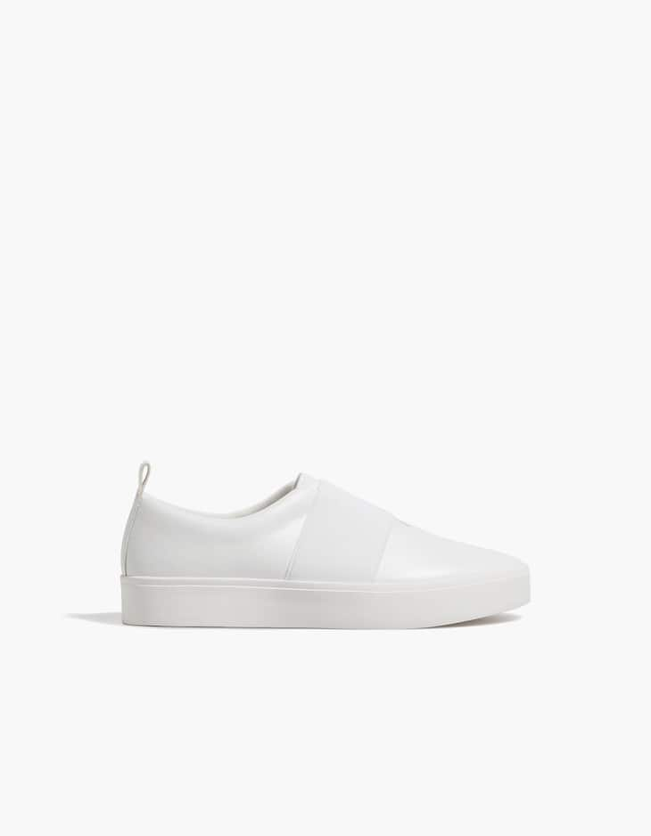 White stretch sneakers