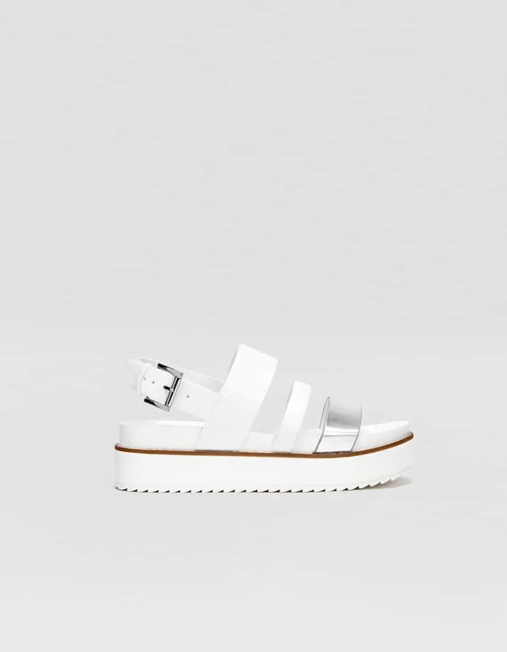 Contrasting EVA sole flatform sandals