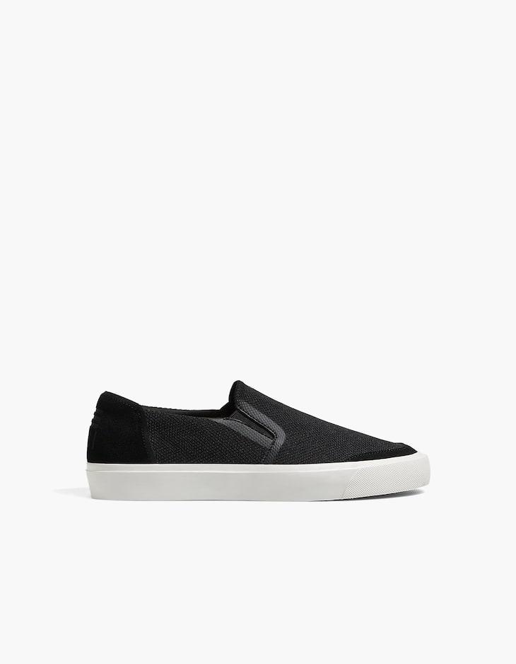 Sneaker mit Netzstoff in Schwarz