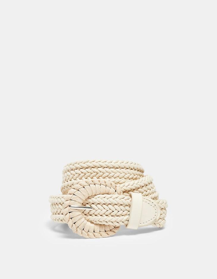 Cinturón trenzado cuerda