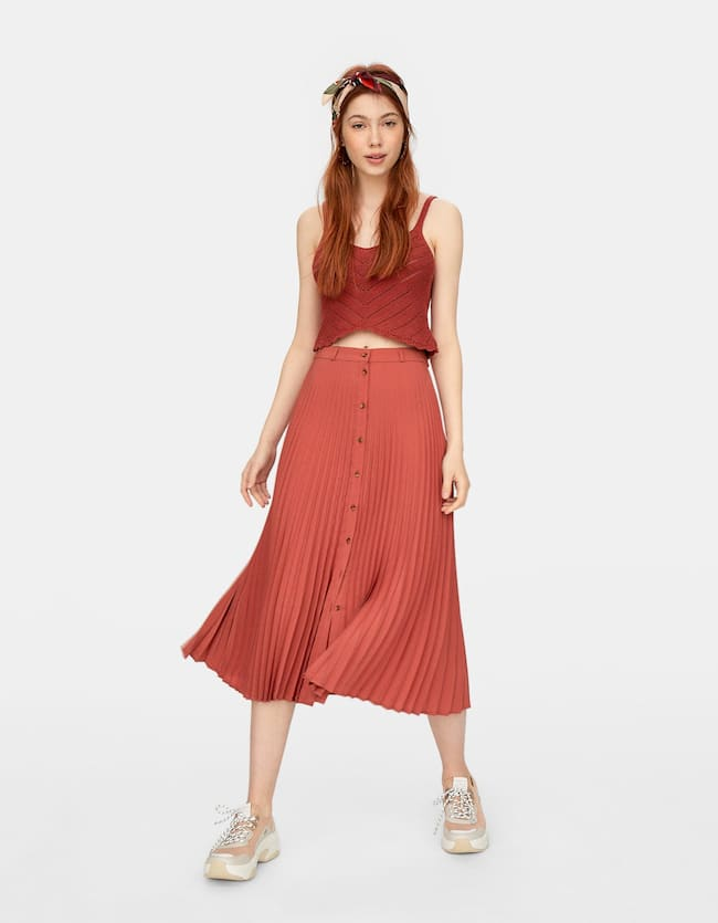 af5348a7fa Skirts & Pinafore Dresses for women - Autumn Winter 18 | Stradivarius