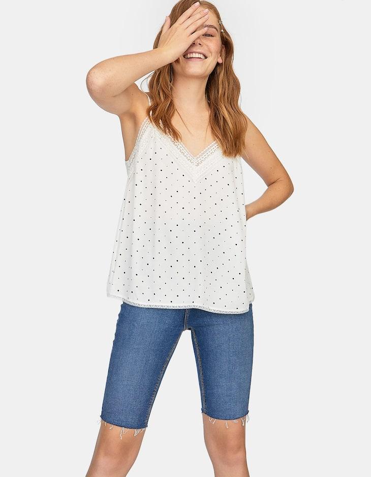 Polka dot print camisole top