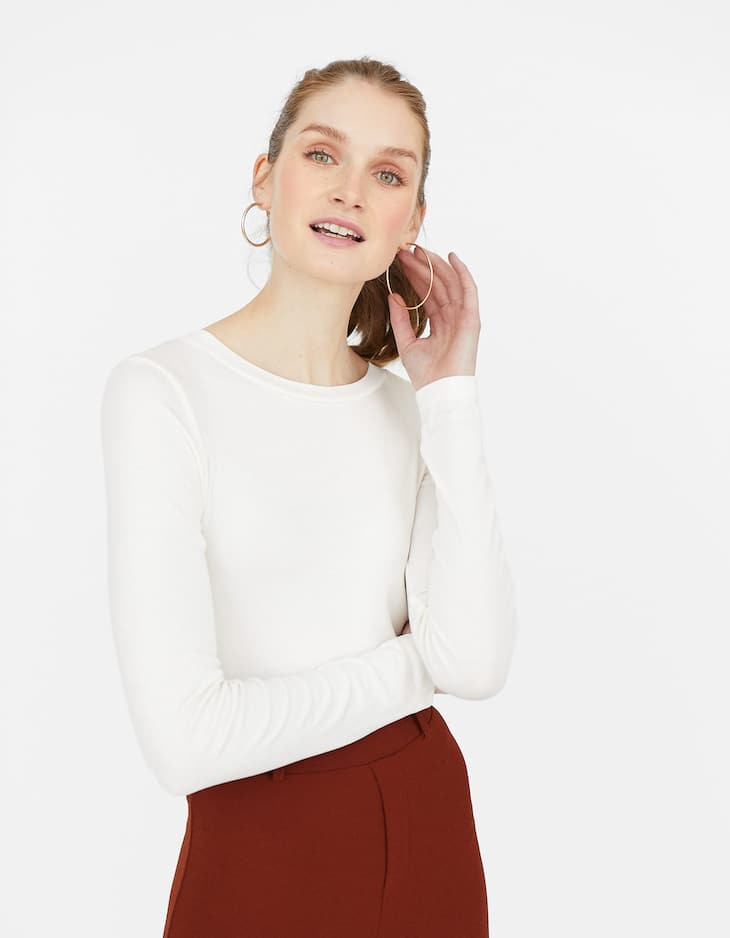 Basic Cropped-Shirt