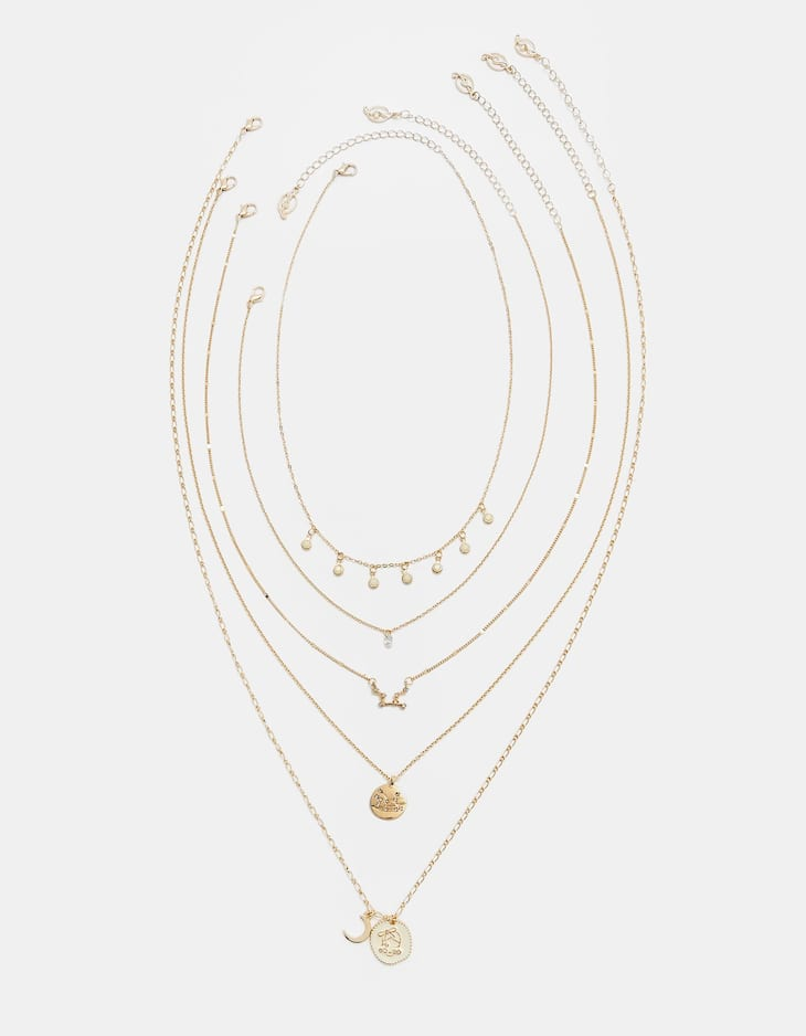 Set of 5 Virgo necklaces