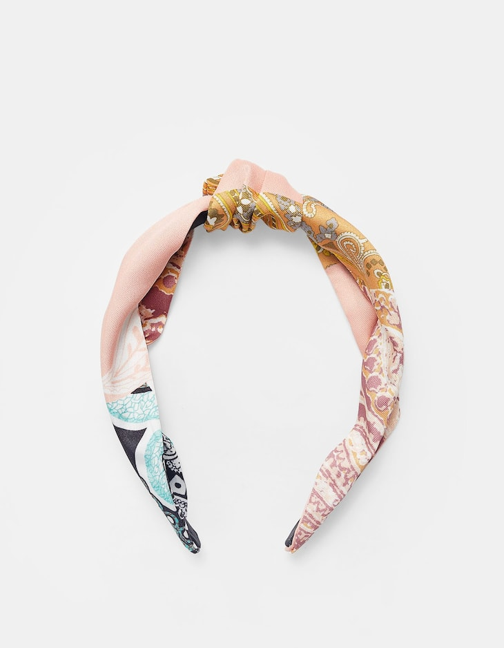 Stradivarius - Rigid Patchwork Headband - 2