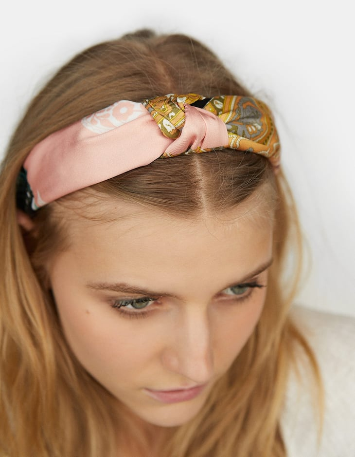 Stradivarius - Rigid Patchwork Headband - 5