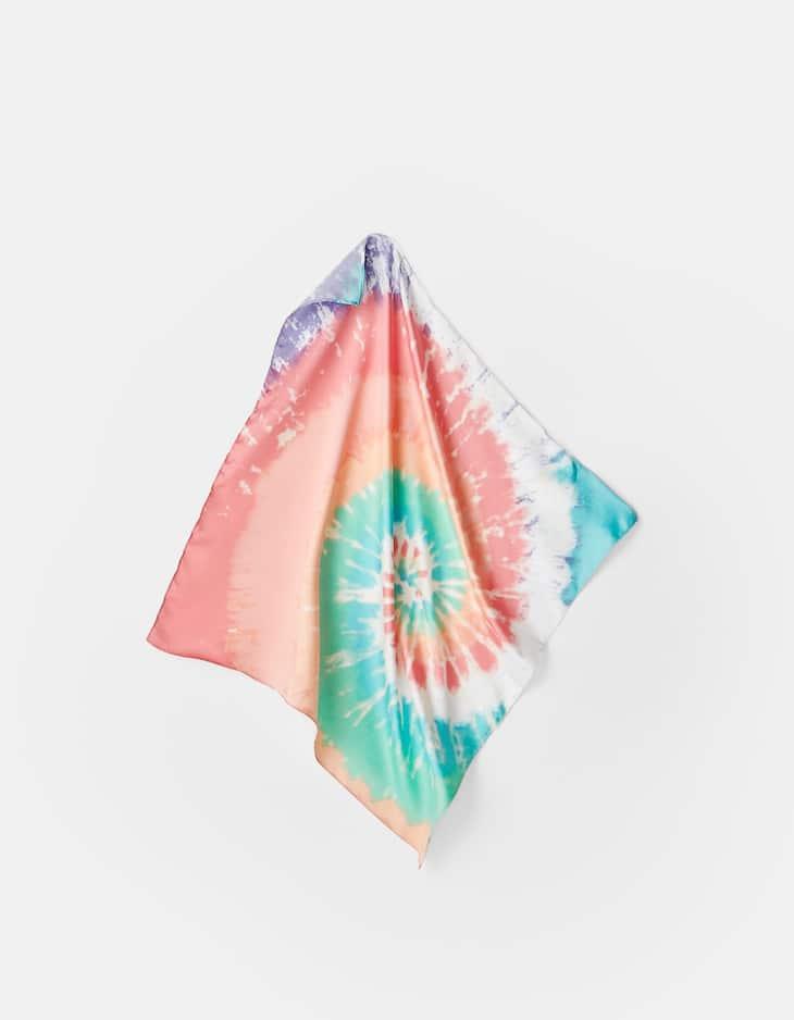 Tie-dye pastel bandanna