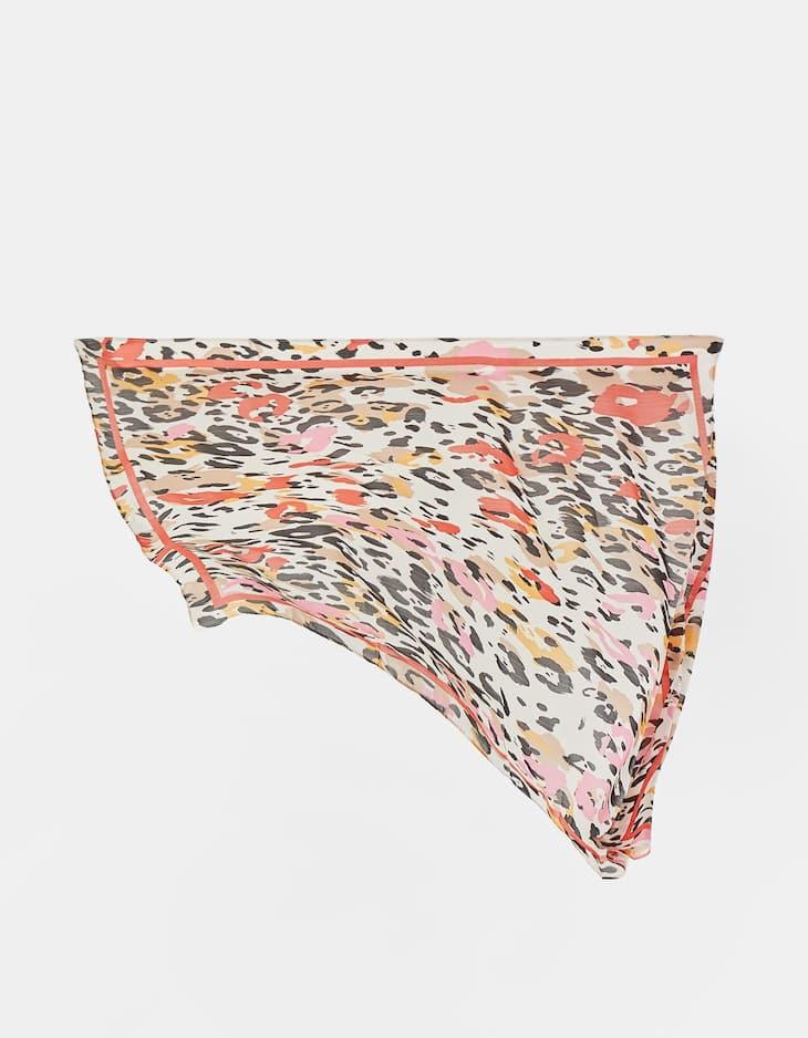 Leopard spot handkerchief
