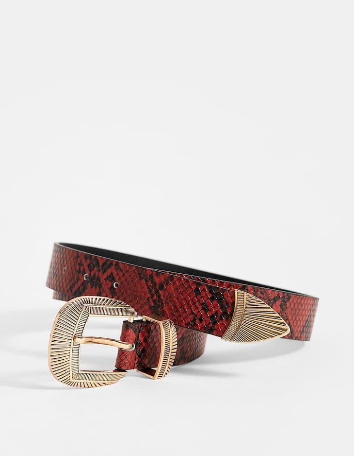 Cinturó cowboy serp