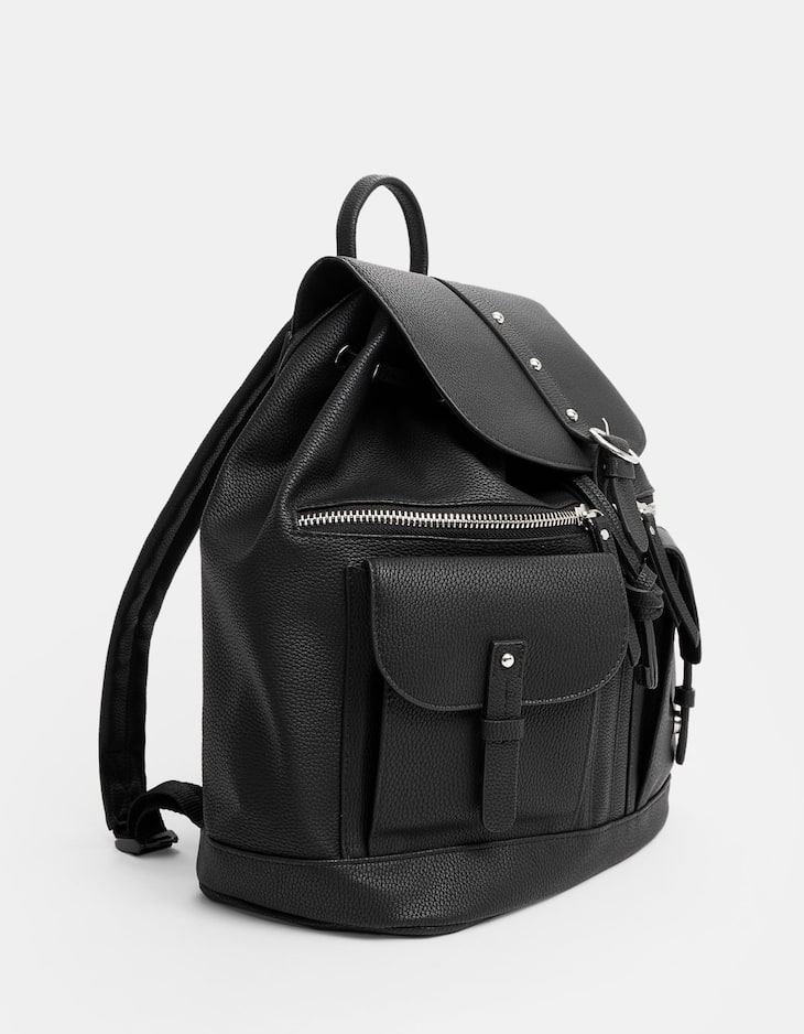 Casual backpack with pockets