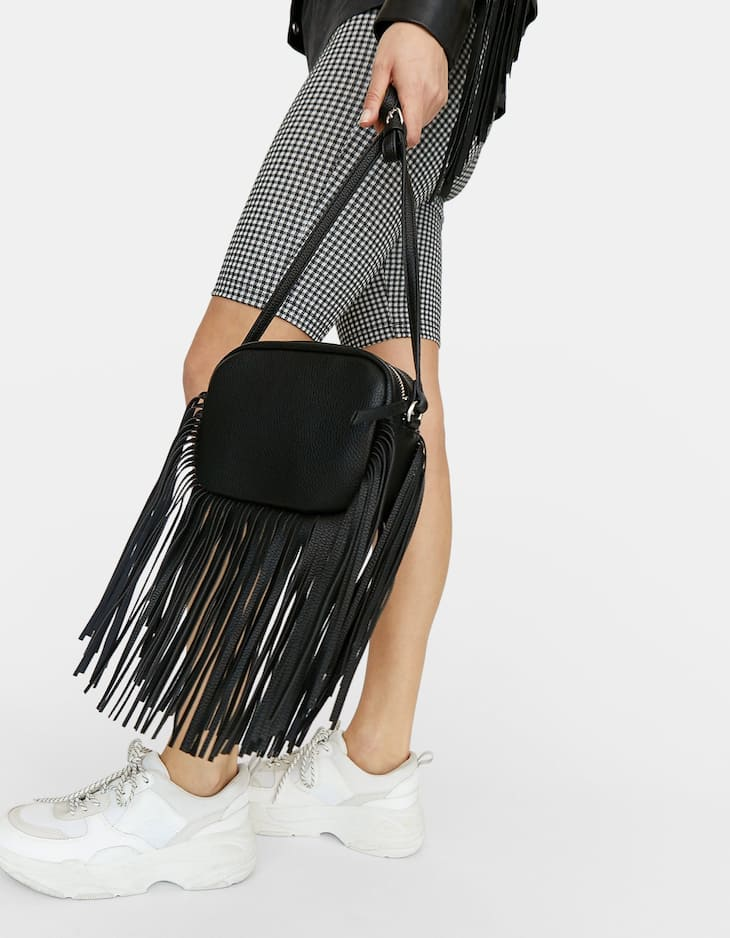 Backpack with fringing