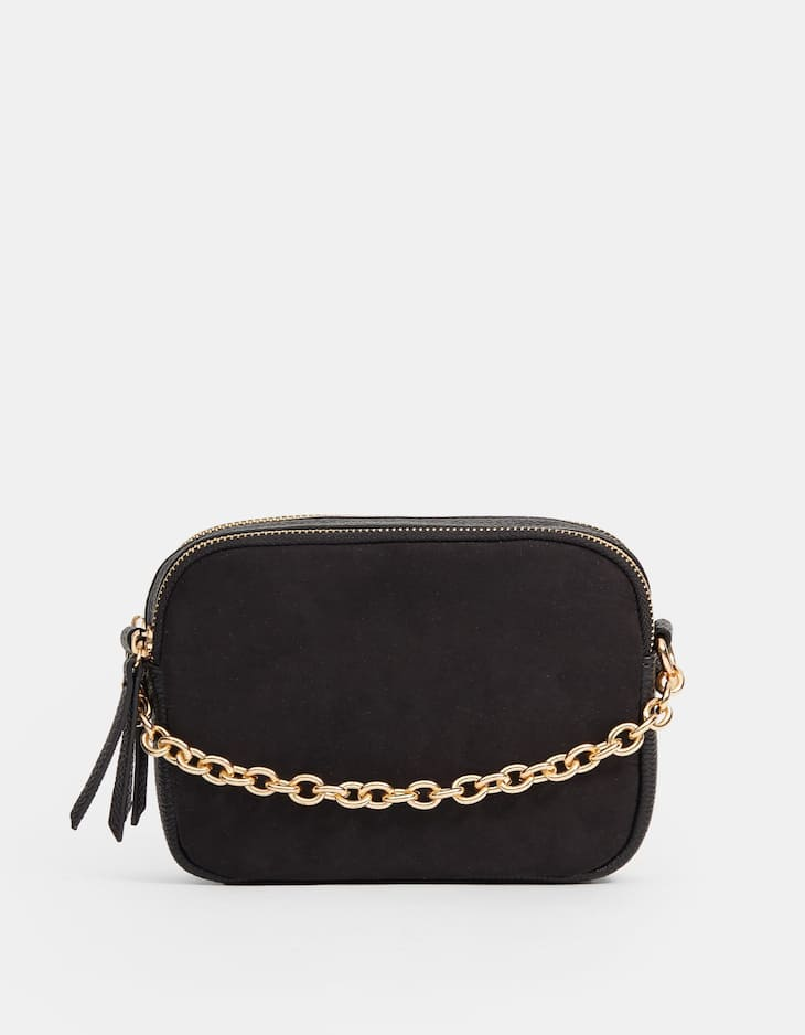 Mini crossbody bag with chain strap