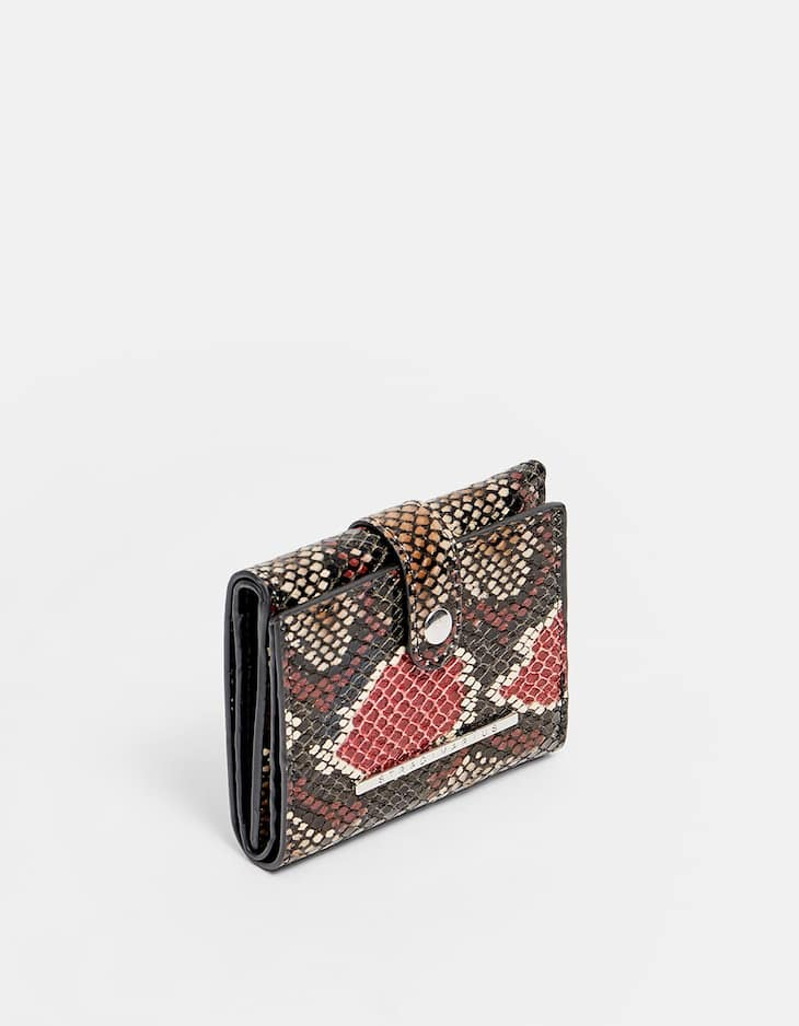 Mini snakeskin print purse