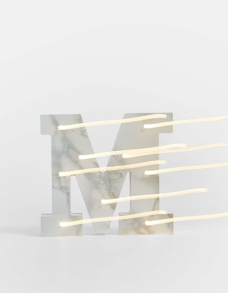 Marble print letter M