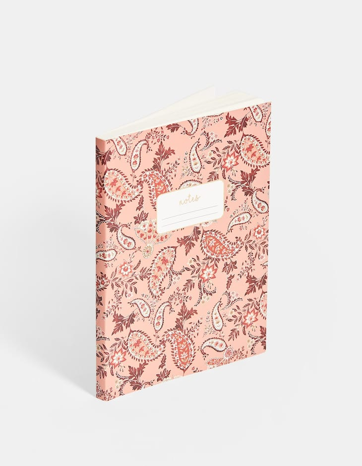 Paperback paisley notebook