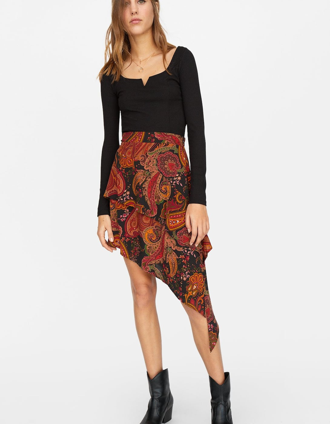 Asymmetric Ruffled Skirt by Stradivarius