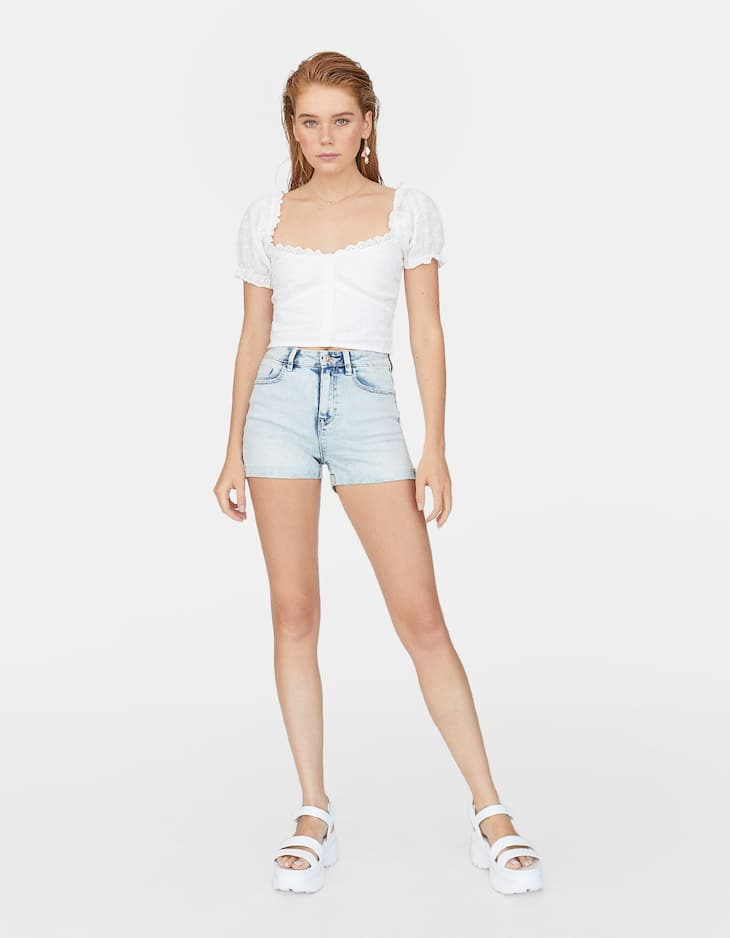 Shorts super high waist
