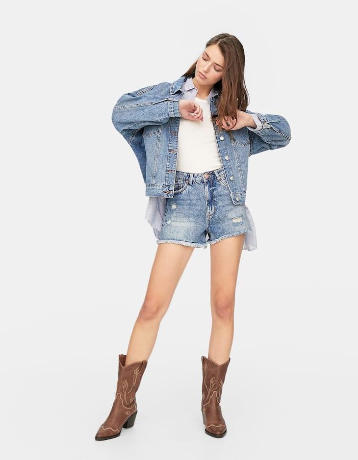 High waist vintage shorts
