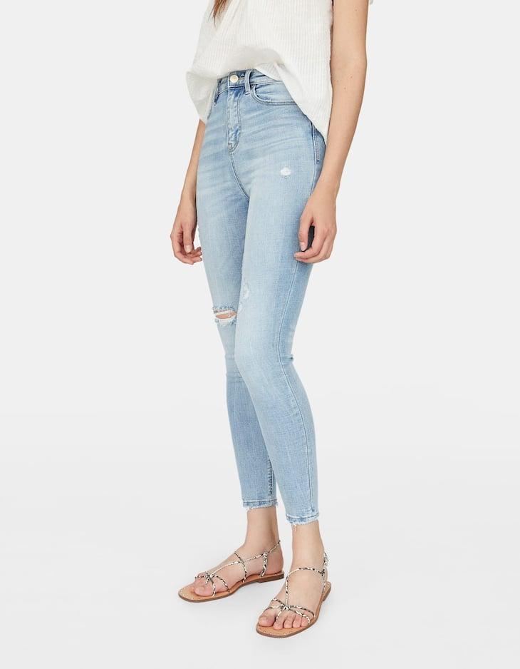 Jeans skinny súper tiro alto