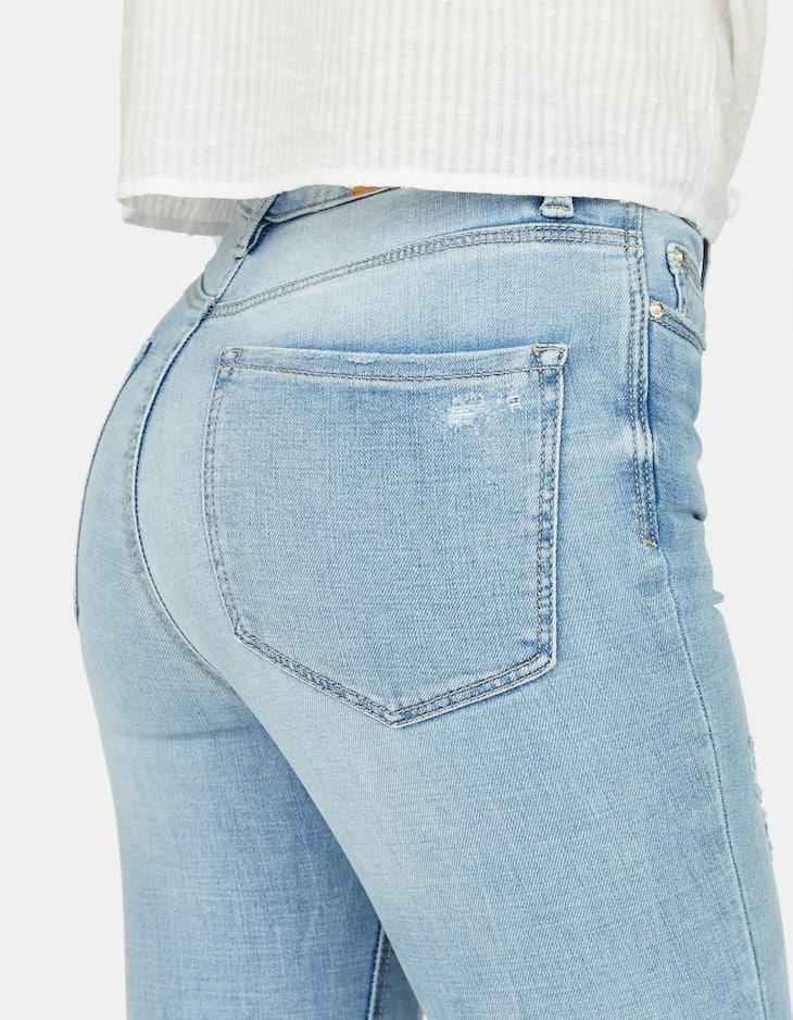 Stradivarius - Super-Skinny-Jeans mit hohem Bund  - 2