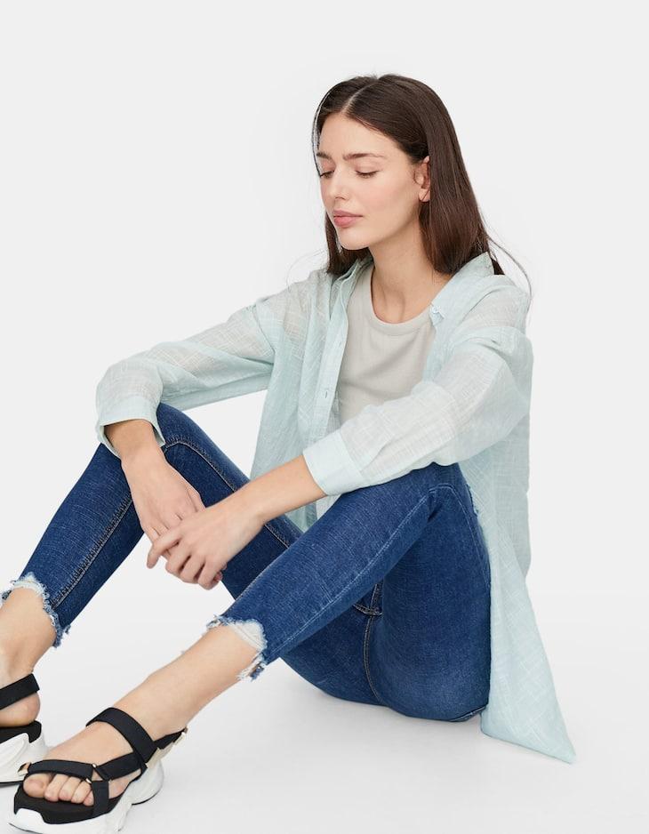 Super high waisted skinny jeans