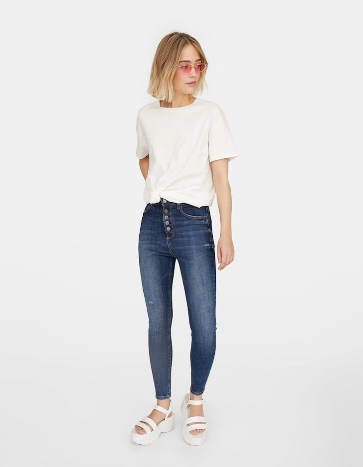 Jeans súper tiro alto