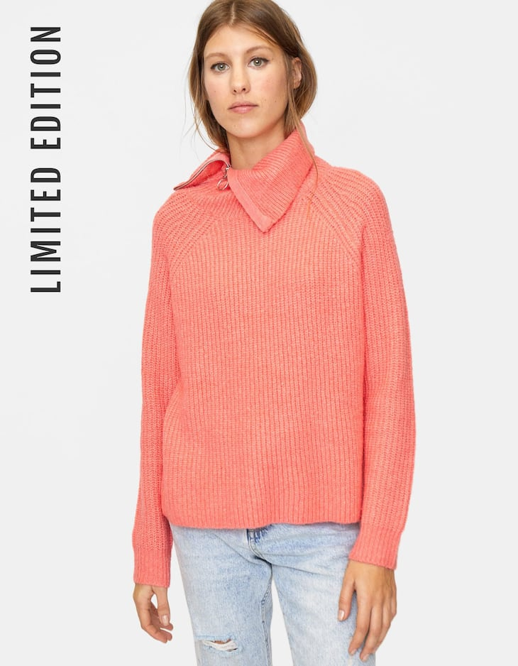 Limited Edition zipped high neck sweater