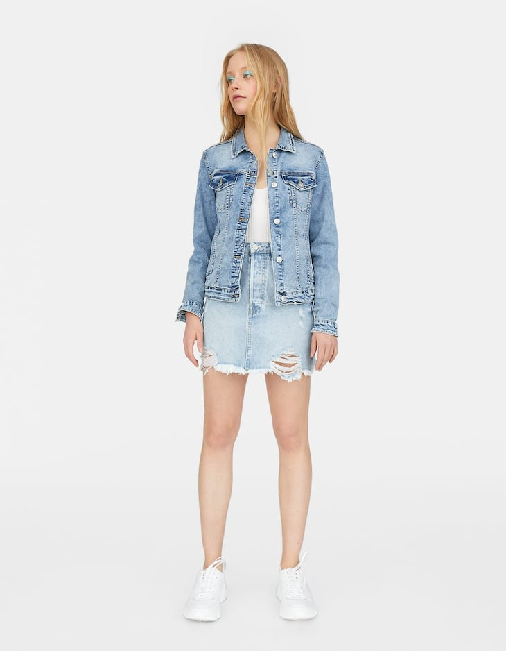 43228ffd7e Short denim jacket - Shirts and T-shirts