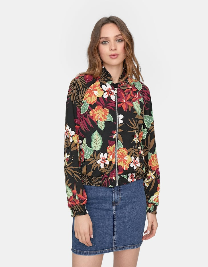Loose printed jacket