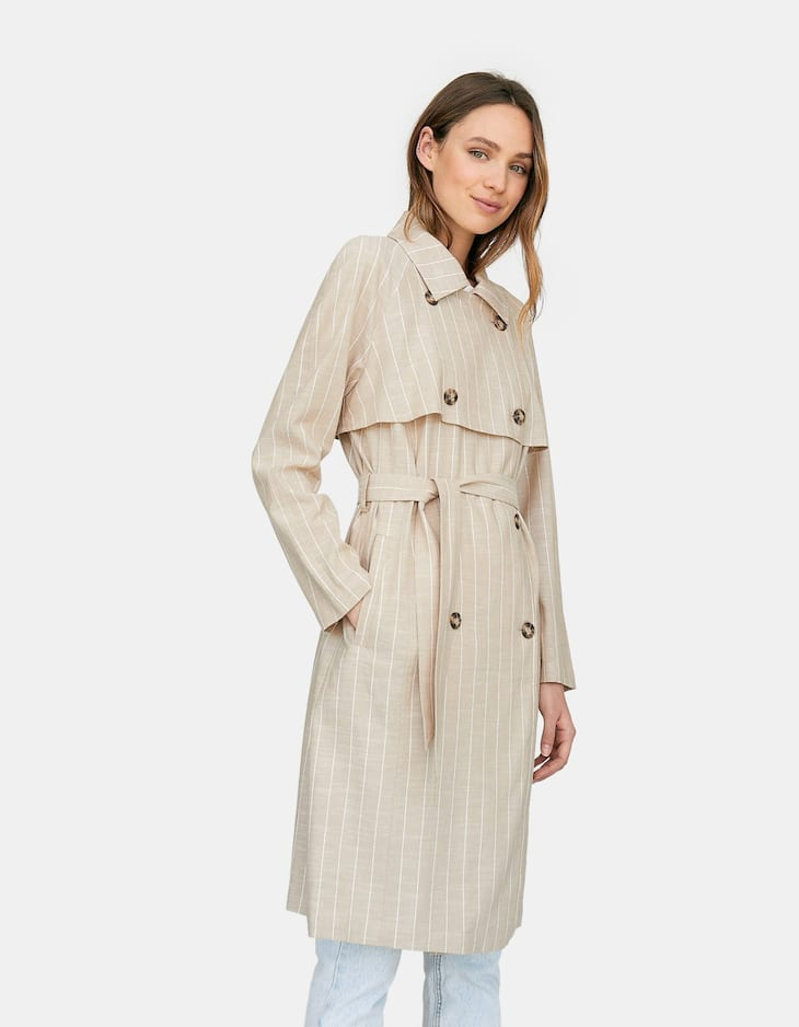 Long rustic trench coat