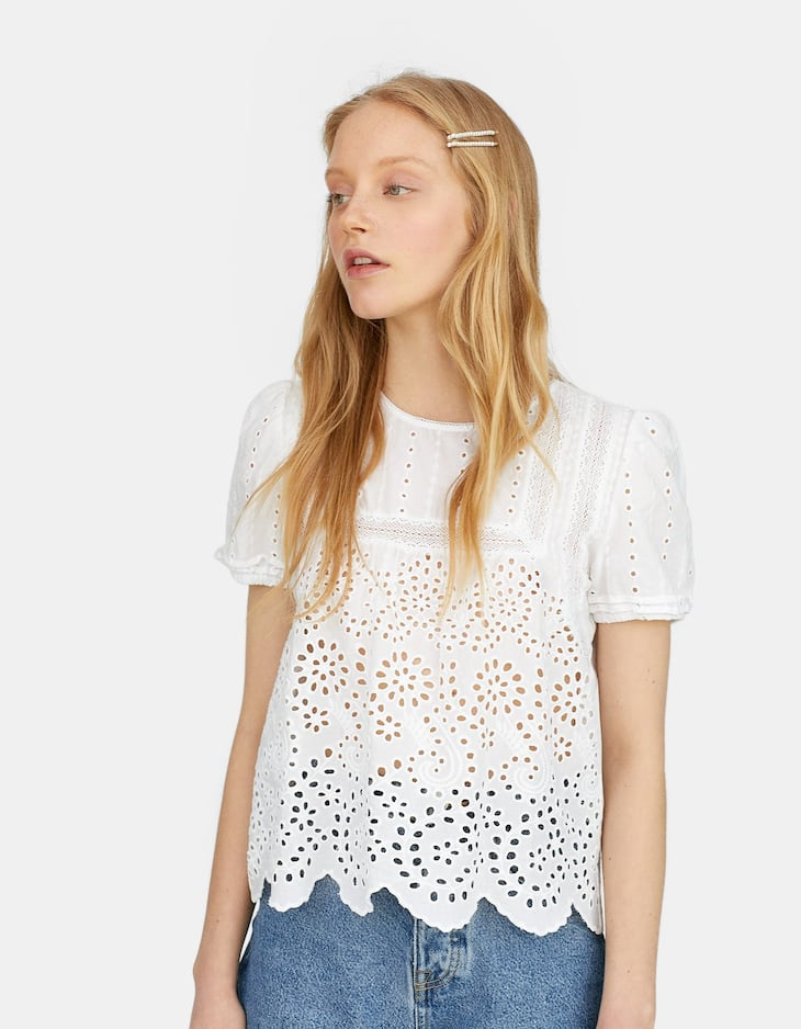 Swiss embroidered top