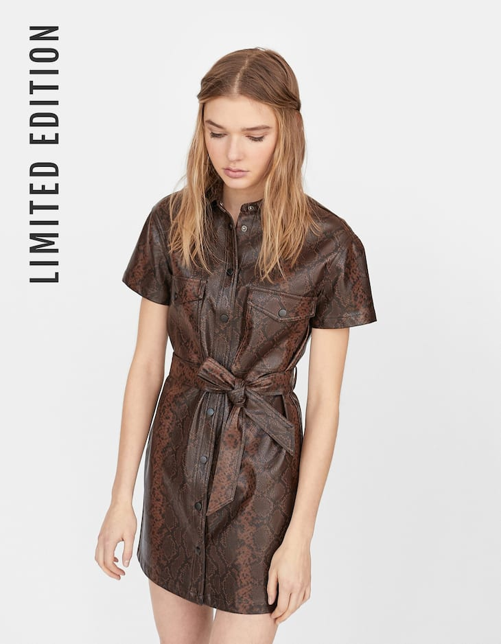 Limited Edition faux leather dress