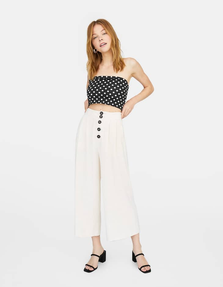 Polka dot bandeau top