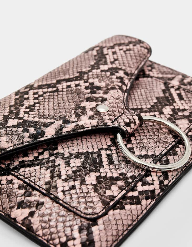 Snakeskin print belt bag purse