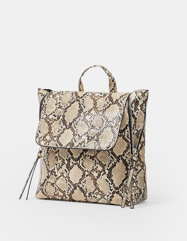 Rucksack mit Reißverschlüssen Snake