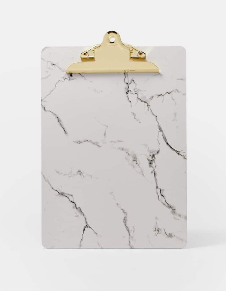Clipboard estampado mármore