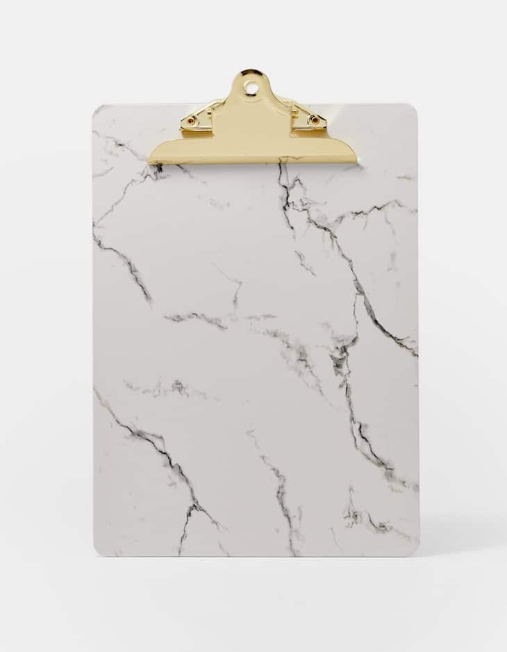 Marble print clipboard