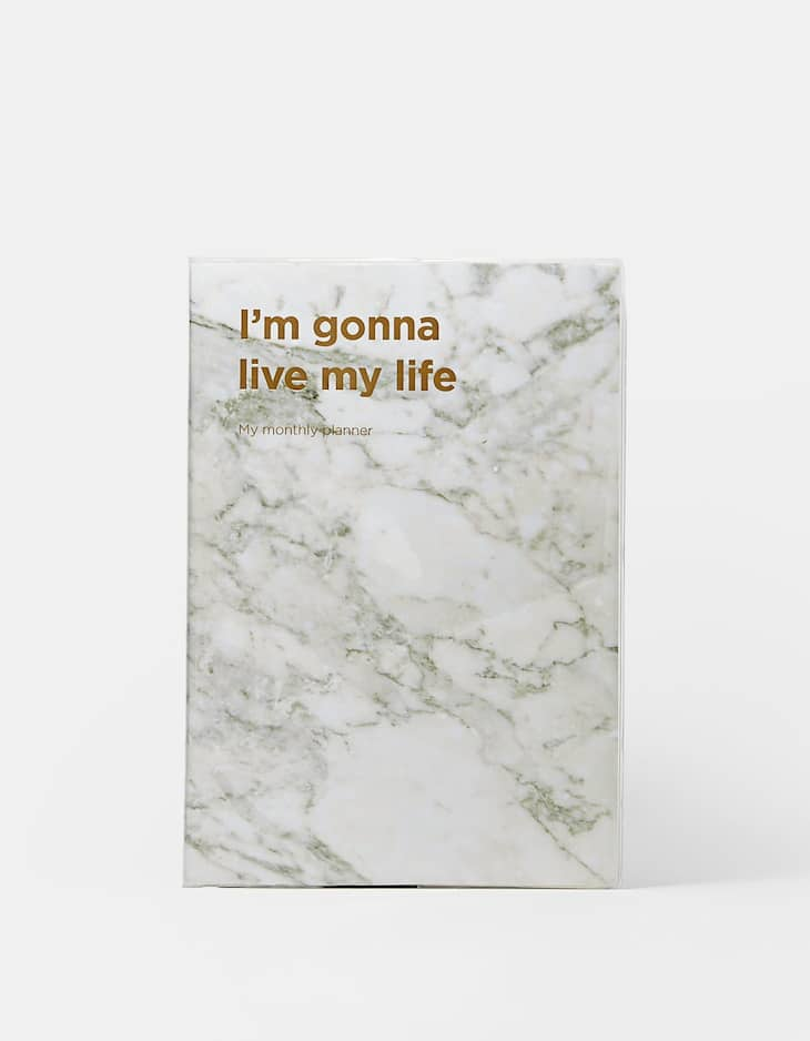 'I'm gonna live my life' planner