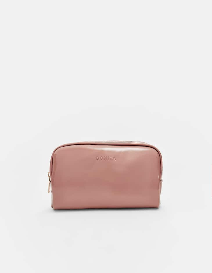 Toiletry bag with 'bonita' embossing