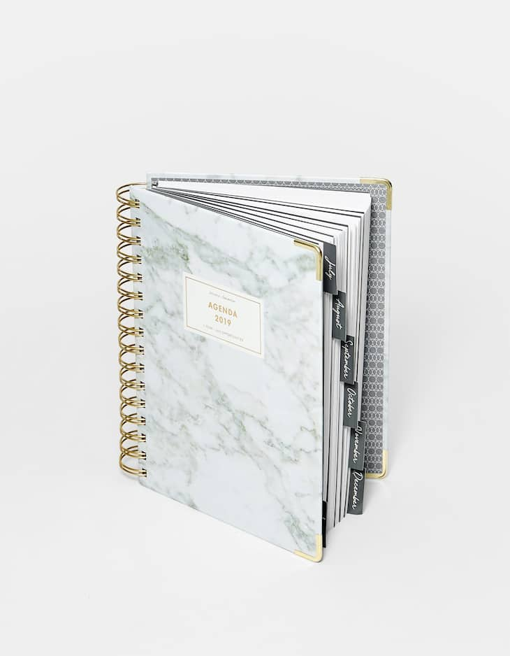 Marble effect 2019 planner