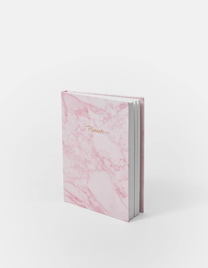 Premium marble print planner
