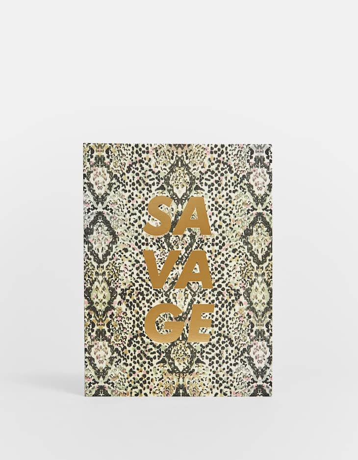 Snakeskin print notebook