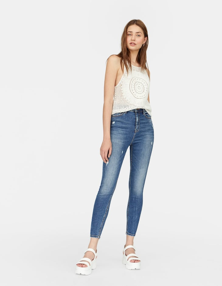 Denim super high waist