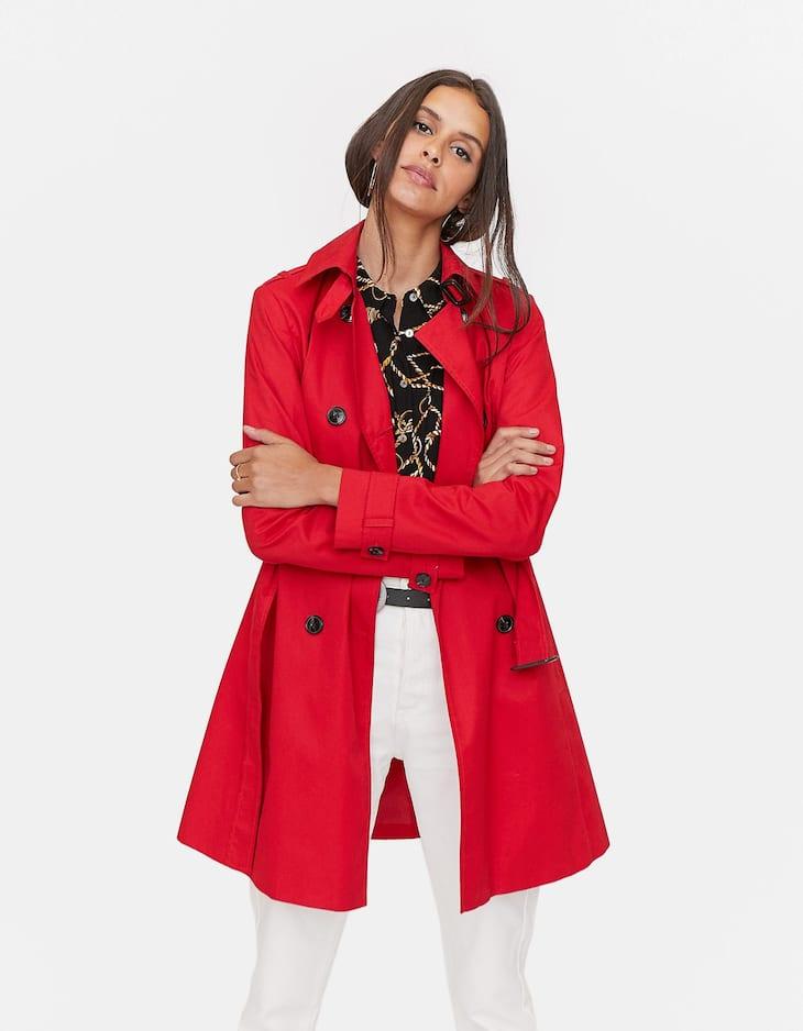 Lapel collar trench coat