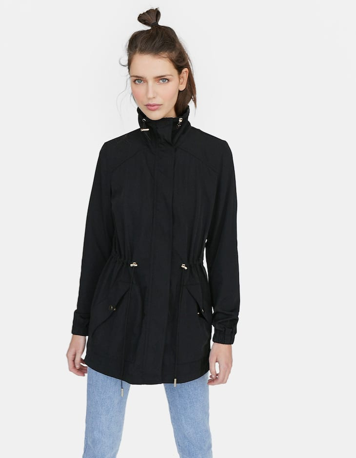 Loose-fitting technical coat