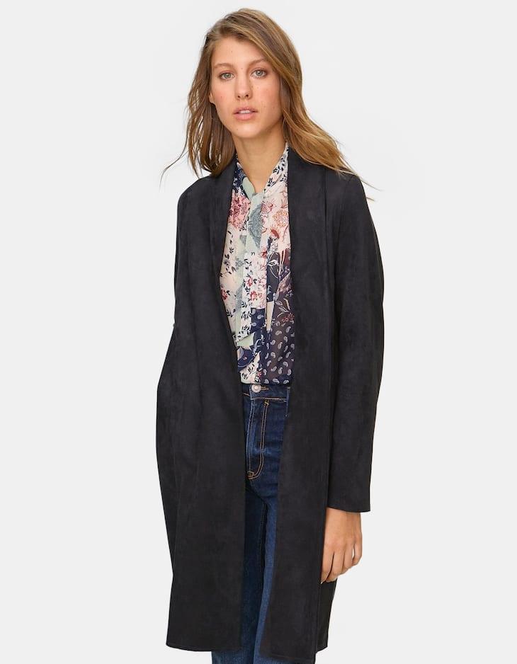 Bonded open coat